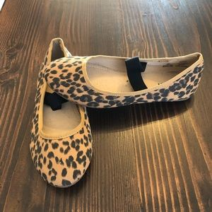 3 Girls Cheetah Print Flats with Straps